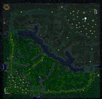 Dota-Allstars Map/Terrain Layout
