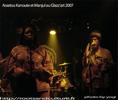 Manjul et assetou kanouté au glazz'art le 30 mai 2007
