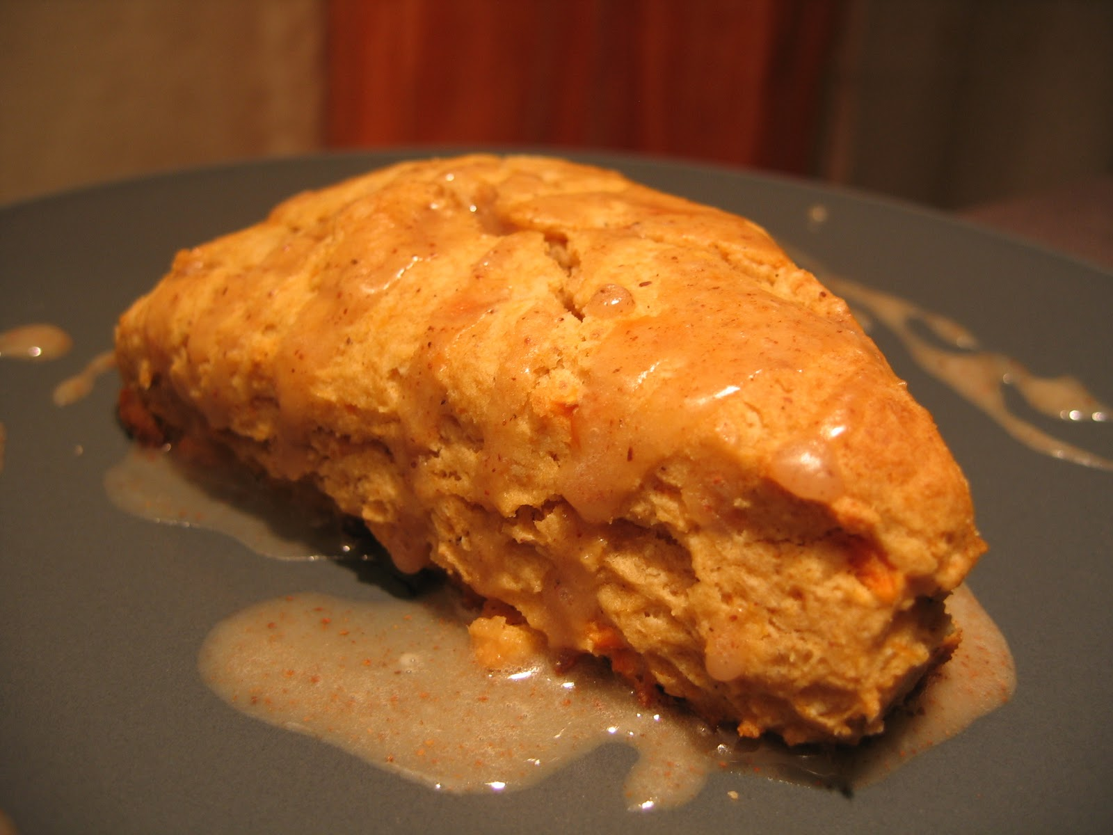 Shove It In Your Face: Sweet Potato Scones with Cinnamon Icing