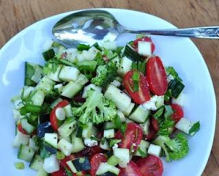 Tomato & Zucchini Salad