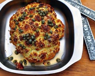 Whole Roasted Cauliflower with Lemon Vinaigrette