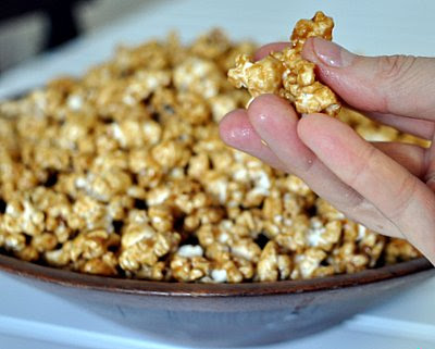 Homemade Microwave Caramel Corn