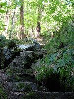Beautiful old stone steps appear throughout the hike.