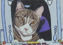 """House Cat"", Tabby Cat Original Portrait by AMP"