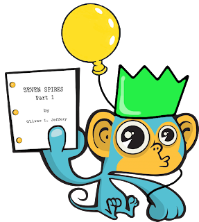 Spec Monkey celebrates me finishing Seven Spires