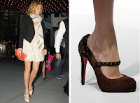 Sienna Miller in Louboutin shoes