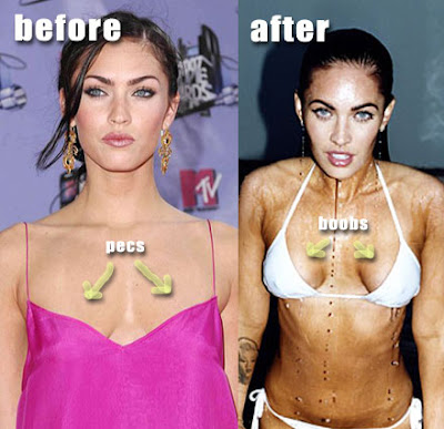 I think Megan Fox is gorgeous,