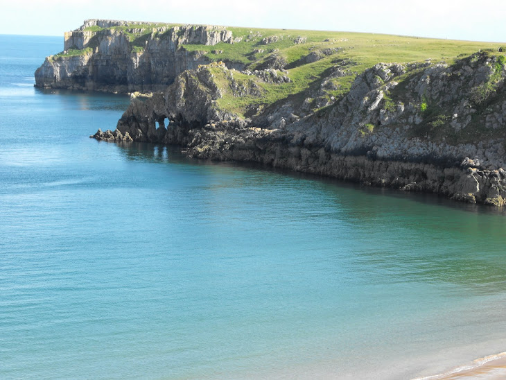 Beautiful Barafundle Bay, Pembrokeshire, one of Britain's best beaches
