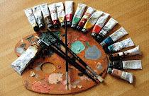 Техника работы красками