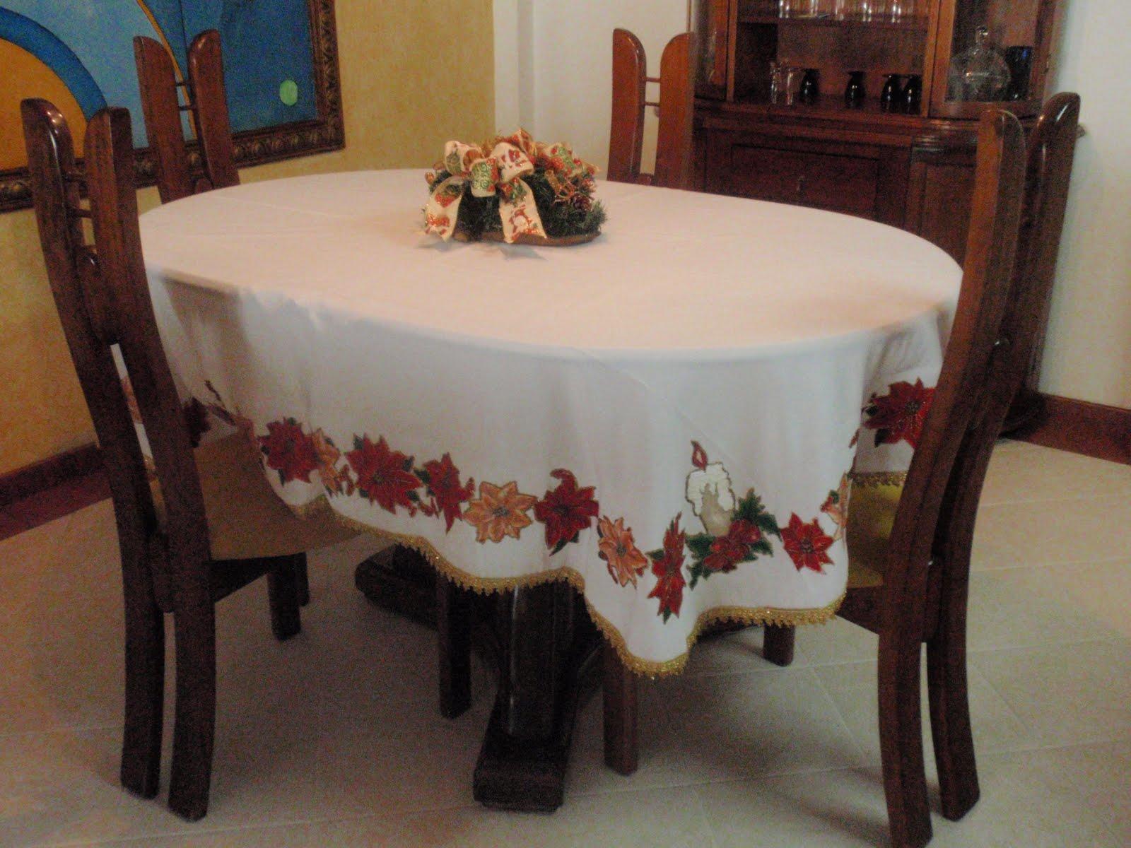 Animcymanualidades decoraci n navide a 2 - Manteles de mesa de comedor ...