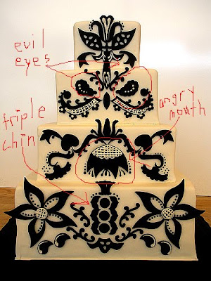 Black and White Wedding Cakes Bipolar to the core