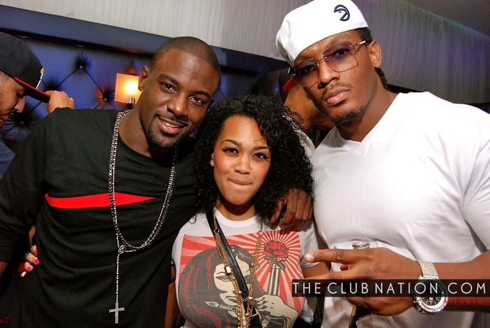 event snaps lance gross and new friend party it up in atlanta