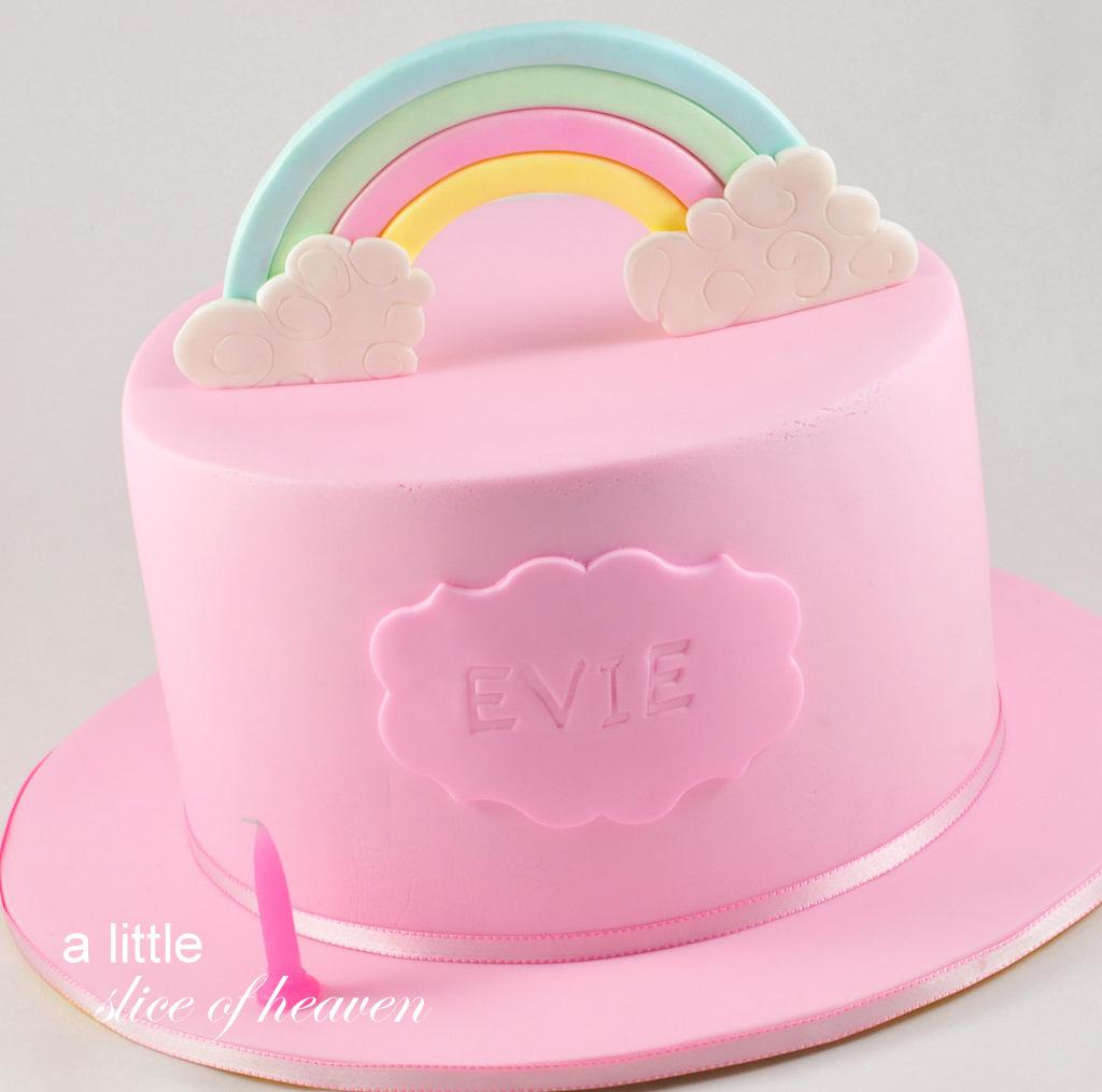 A Little Slice Of Heaven Rainbow Birthday Cake