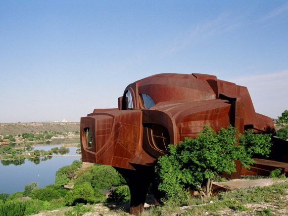 Fresh rust robert bruno steel house ransom canyon near for Metal houses texas