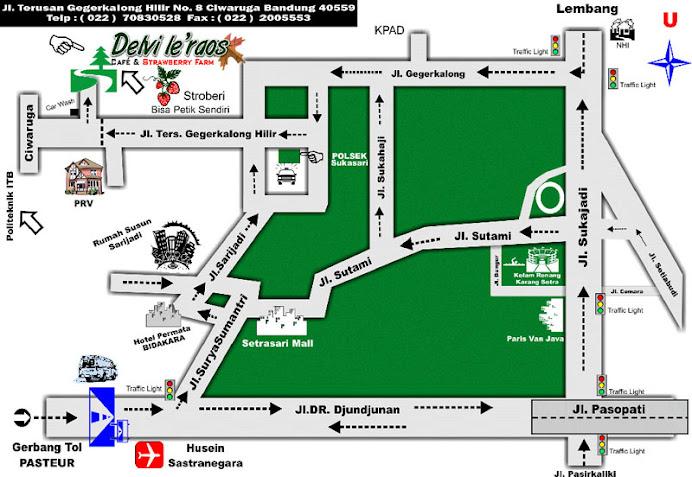 Peta Delvi 'e'raos Bandung