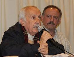 Norberto Galasso (Corriente Enrique Santos Discépolo) y Hugo Yasky (Secretario General de la CTA)