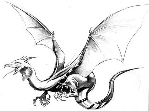 dragon tattoo flash