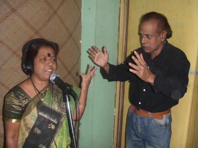 tripti sanyal in a recording