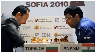 ANAND & TOPALOV PLAYING