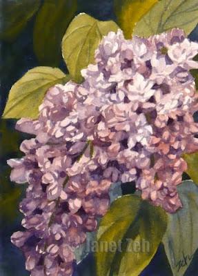 ;ilacs watercolor painting