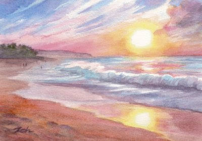 250 best Watercolor Beach, Lakes, Lighthouses, Boats images on ...
