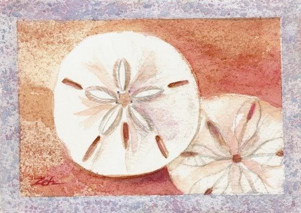 Sand Dollar Oil Painting