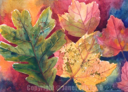 7. Watercolor Fall Leaves - Duchesne County School District