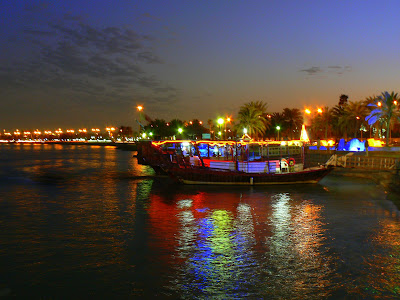 Dhow at night