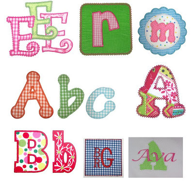 LETTER PATTERNS FOR APPLIQUE - APPLIQUE DESIGNS