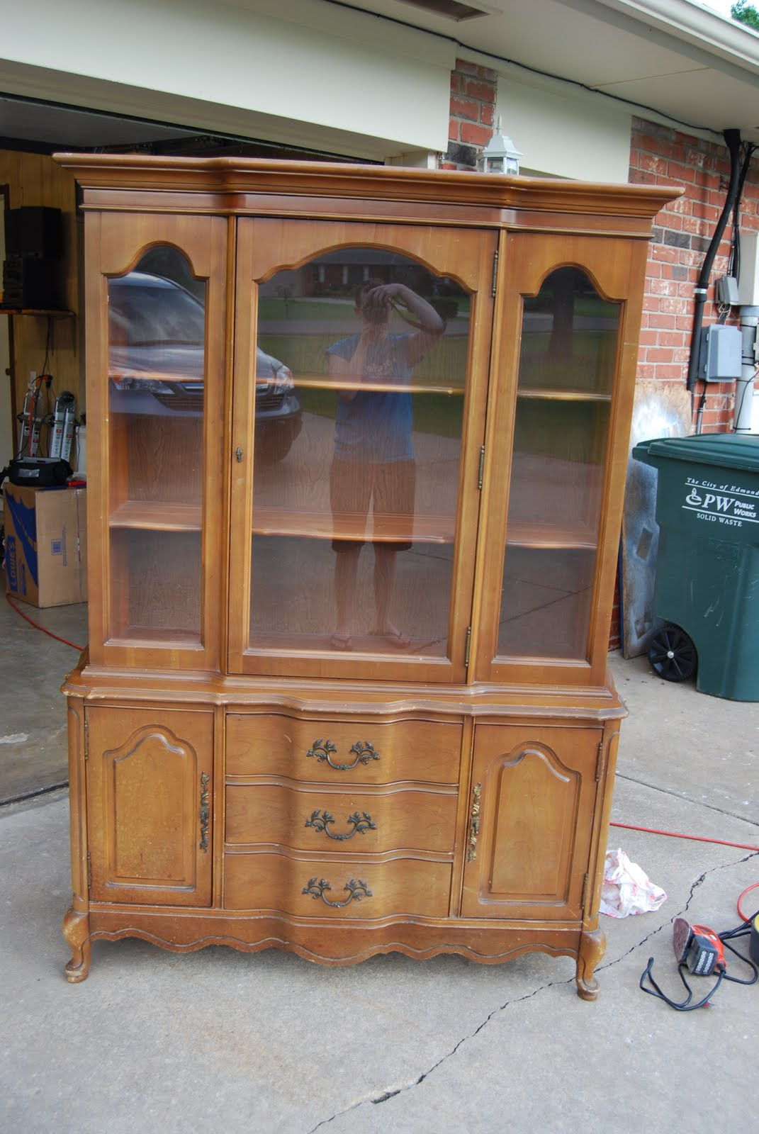 the gills: refinished china cabinet