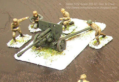 Italeri 1-72 scale ZIS Anti-Tank Gun and Crew