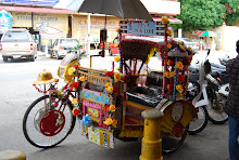 A three wheeler called 'beca' or trishaw