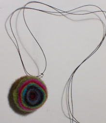Muted Felted Rainbow Necklace