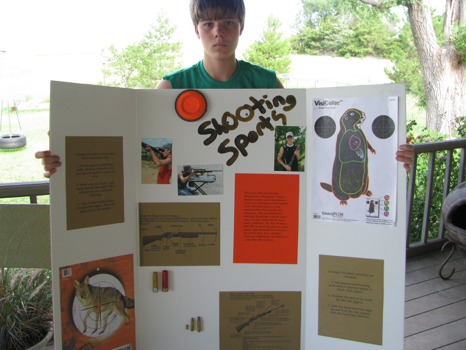 there's no place like home: tristan's 4-h projects