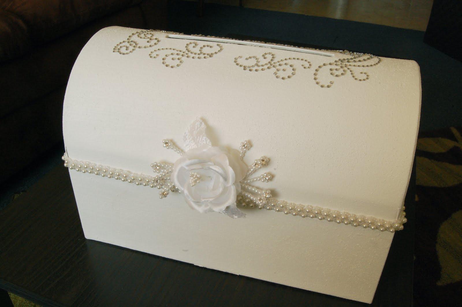 Wedding card box diy wedding cards for Wedding mailbox decorating ideas