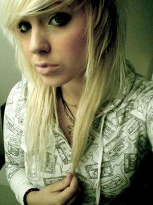 Trendy Emo Girl Styles with Long Hairstyle Blonde Emo Hairstyles For Emo