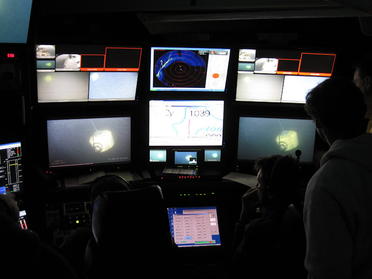 inside the ROV control room at sea