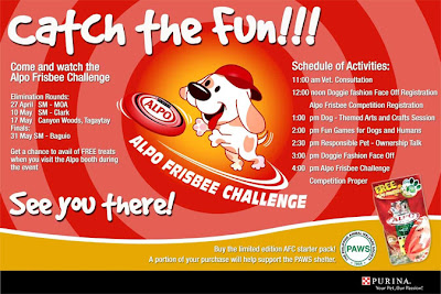 PAWS Event: Alpo Frisbee Challenge in SM Baguio
