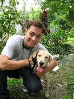 Drae Ybañez and Trixie at the PAWS Shelter!