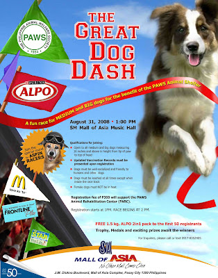 The Great Dog Dash 2008 Poster, SM Mall of Asia