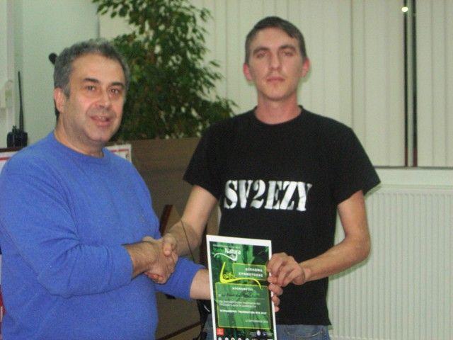 Απονομή Βραβείων στον SV2EZY για την συμμετοχή του στο TransNatura 2010.