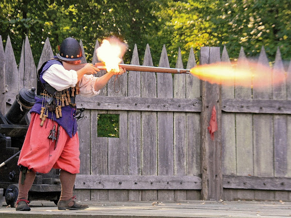 Firing the Flintlock Gun