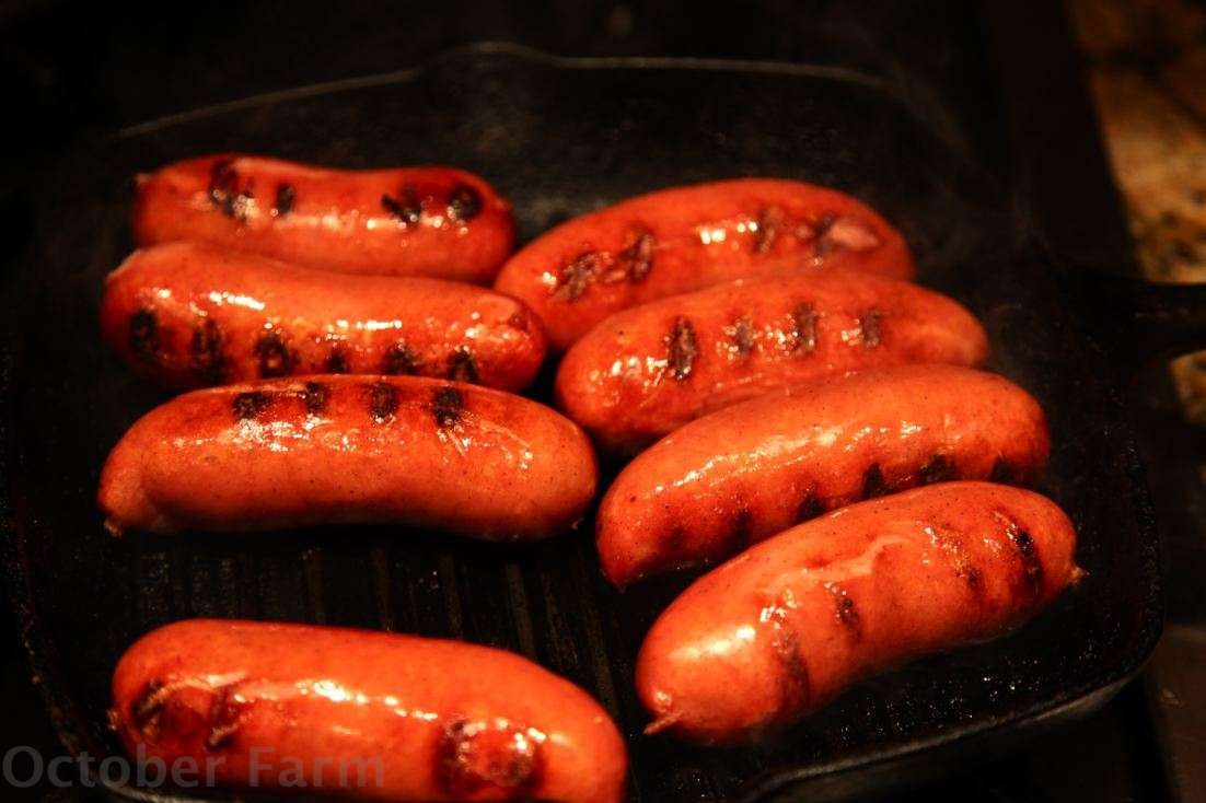 how to cook knockwurst in the oven
