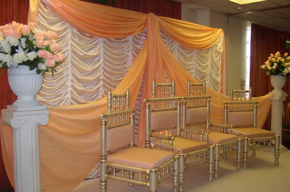 Indian wedding stage decoration