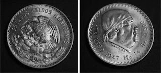 "MONEDAS DE ""1 PESO"" DEL GENERALISIMO JOSE MARIA MORELOS MEXICO Cacheton"