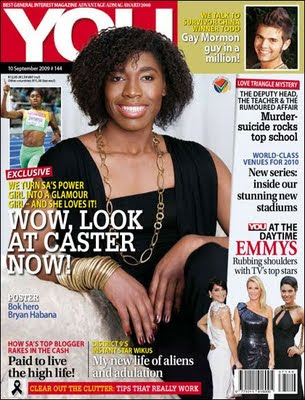 Caster Semenya Magazine Cover