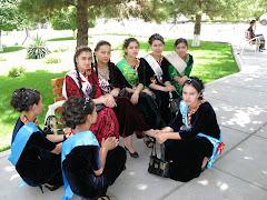 Koulutyttöjä Turkmenistanissa