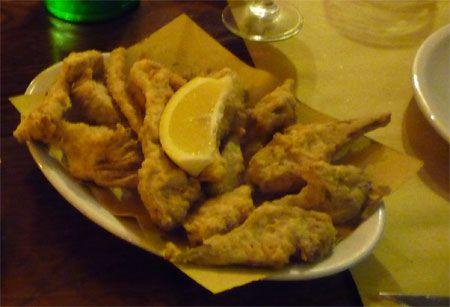 La cucina di sabrina carciofi fritti for Fritti romani