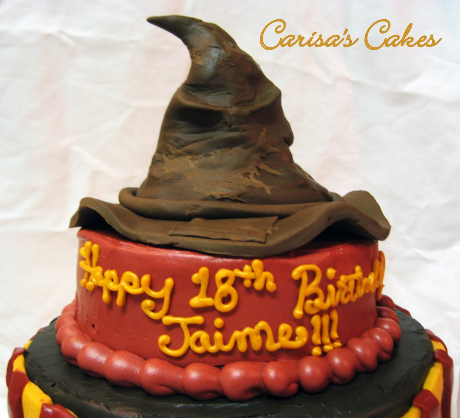Carisas Cakes 3 Tiered Harry Potter Birthday Cake
