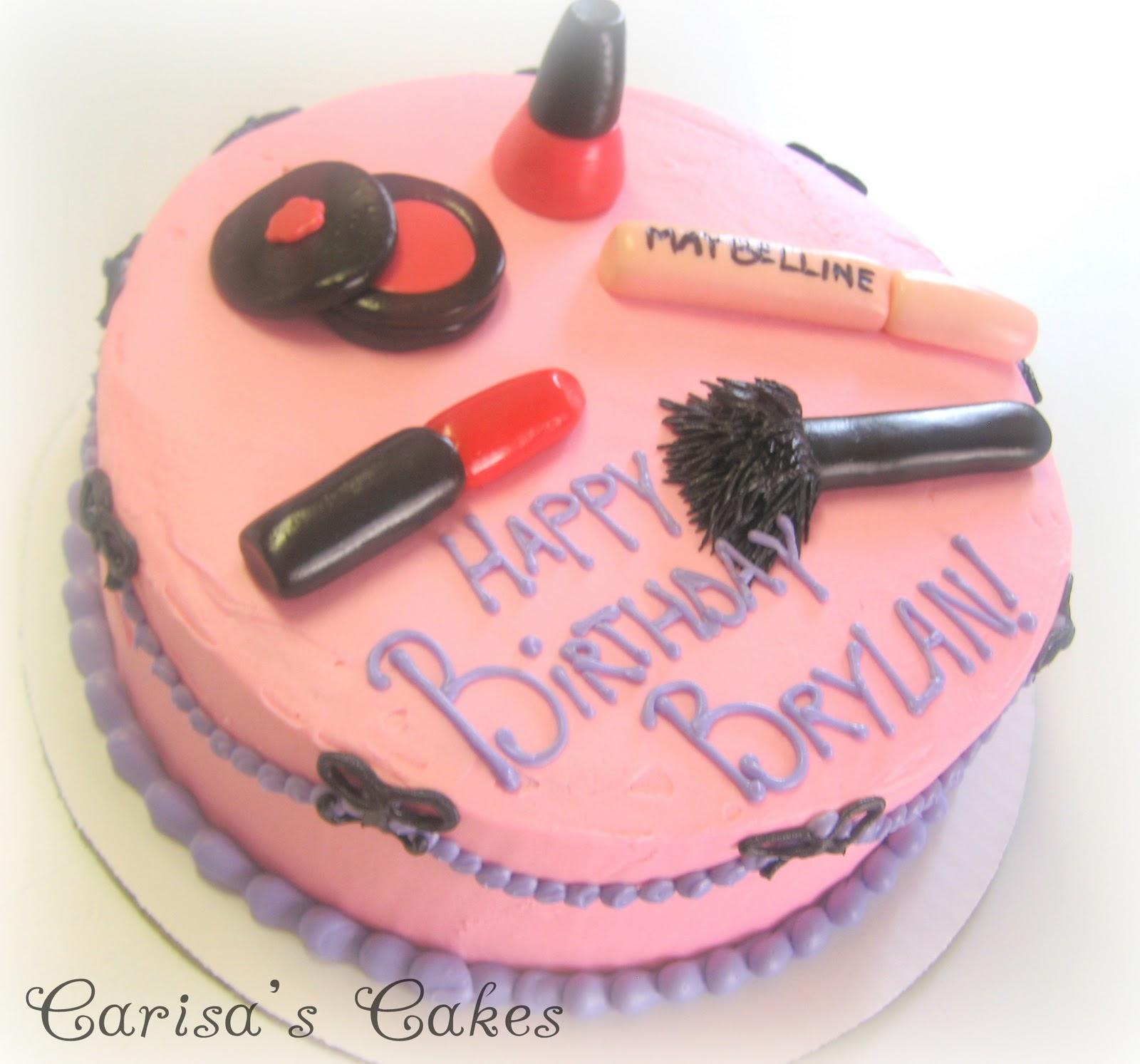 Makeup Cake Pictures : Carisa s Cakes: A Makeup Birthday Cake!